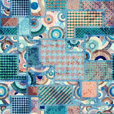 Seamless background pattern. Abstract grunge blue pattern. Illustration