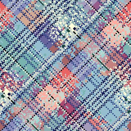 diagonal: Seamless background pattern. Abstract diagonal pixel pattern. Illustration