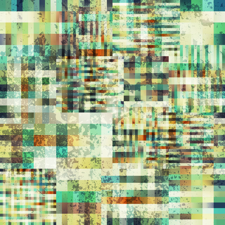 continuity: Seamless background pattern. Abstract plaid pixel pattern with the grunge effect. Illustration
