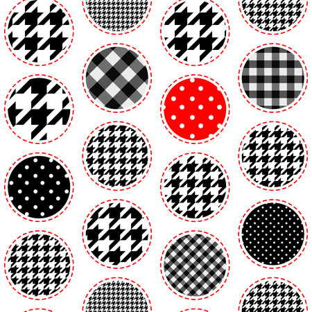 polka dot pattern: Seamless background pattern. Polka dot pattern in patchwork style. Illustration