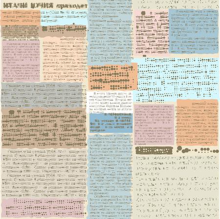 oude krant: Naadloos patroon als achtergrond. Imitatie van oude krant, tekst onleesbaar is.