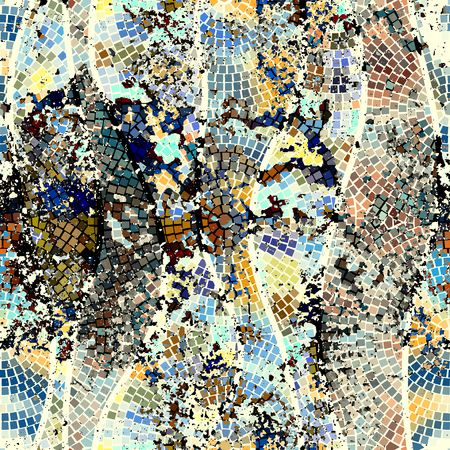 chink: Seamless background pattern. Mosaic pattern with grunge effect.