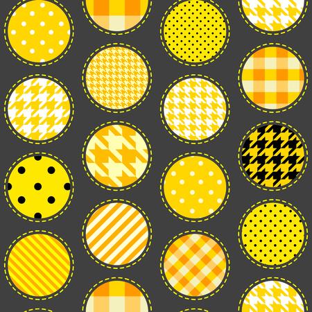 Seamless background. motif de points de polka dans le style patchwork.