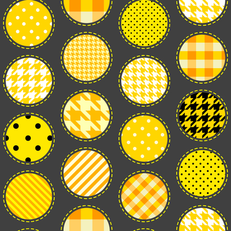 Seamless background pattern. Polka dot pattern in the patchwork style.