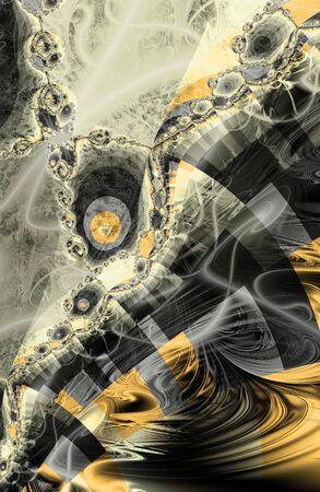 imitations: Abstract fractal background. Digital art. Imitation of yellow stone texture. Stock Photo