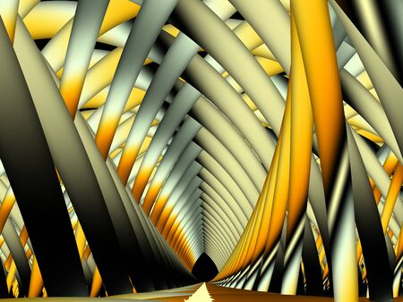 Abstract fractal background. Digital art. Imitation of a abstract 3d gallery.