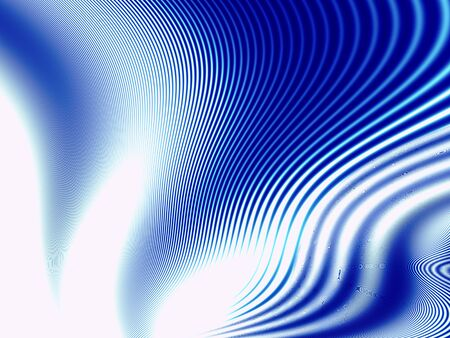 wisps: Fractal artwork for creative design. Abstract blue waves on white background. Stock Photo