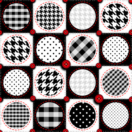 Seamless background pattern. Patchwork background with a polka dot.