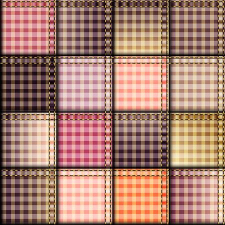 patchwork background: Seamless background pattern. Pink plaid patchwork background Illustration