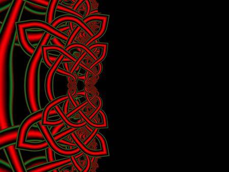 celtic background: Unusual celtic knots background. St. Patricks Day. Fractal artwork for creative design.