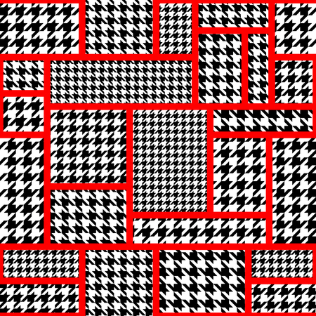 houndstooth: Seamless background pattern. Geometric pattern from hounds-tooth pattern in a patchwork style.