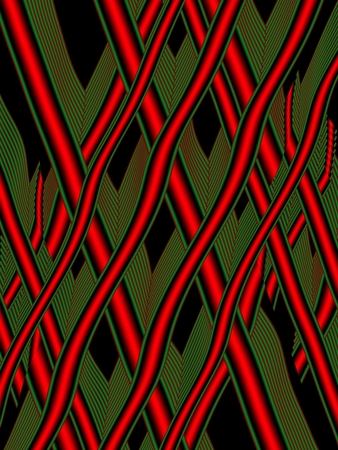 celtic background: St. Patricks Day Celtic background. Diagonal green plaid. Fractal artwork for creative design. Stock Photo