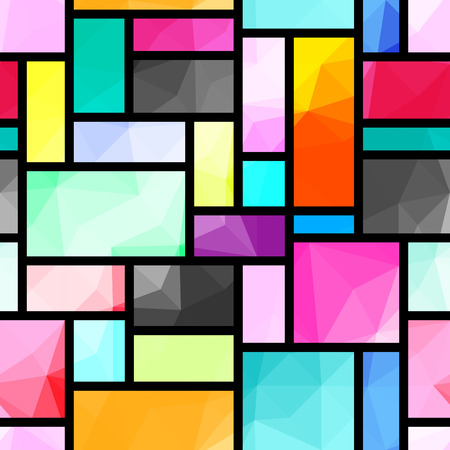 rectangles: Seamless background pattern. Abstract rectangles geometric pattern.