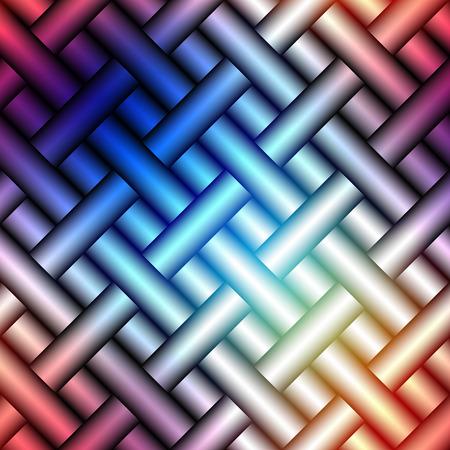 interweaving: Seamless background pattern. Abstract plaid diagonal pattern.