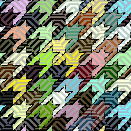 houndstooth: Seamless background pattern. Geometric green Hounds-tooth pattern.