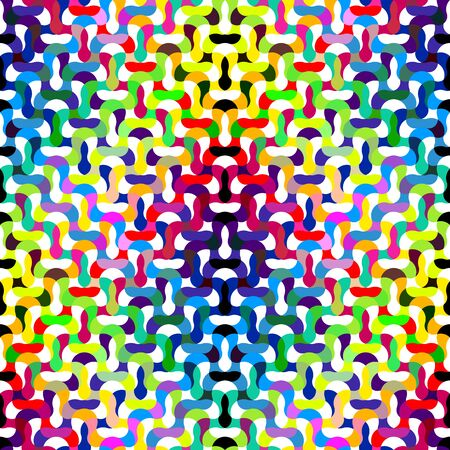 refracted: Colorful wavy refracted background. Seamless vector pattern