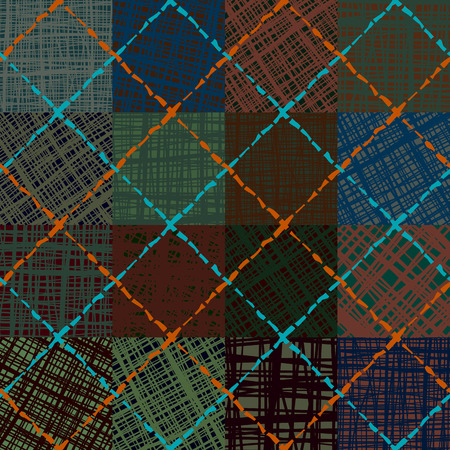 repeat texture: Seamless background pattern. Abstract diagonal plaid pattern. Imitation of canvas texture. Illustration