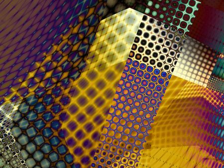 digital art: Fractal digital art background for design. Abstract decorative collage background. Stock Photo