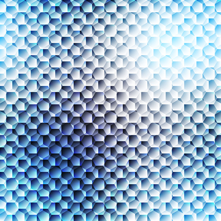 linking: Abstract composition, futuristic technology, blurred seamless cell pattern Illustration
