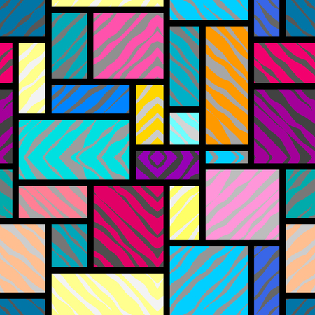 background pattern: Seamless background pattern. Abstract rectangles geometric pattern.