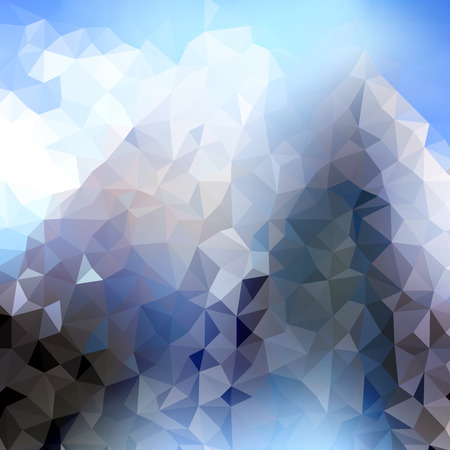 hong kong night: Blur city image with geometric elements on a sky background Illustration
