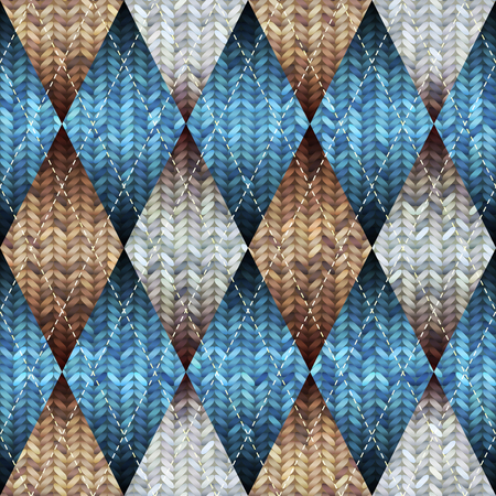 argyle: Seamless knitted pattern with the argyle pattern