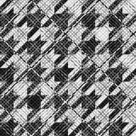 continuity: Seamless background pattern. Abstract hounds-tooth geometric pattern with a canvas texture. Illustration