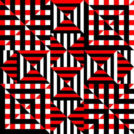 background pattern: Seamless background pattern. Red geometric abstract pattern.