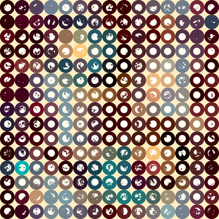 curve ball: Seamless background pattern. Polka dot geometric pattern with a grunge effect.