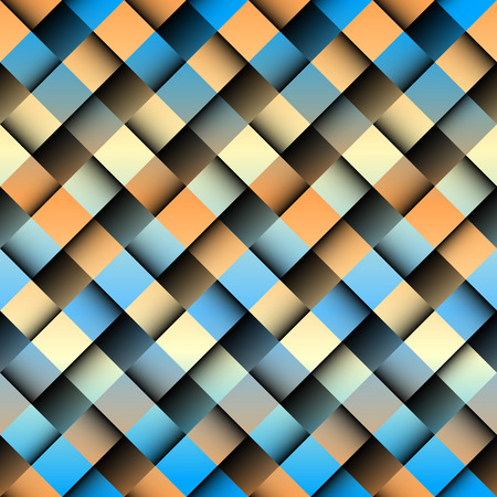 interweaving: Seamless background pattern. Abstract plaid pattern with imitation of interweaving bands Illustration