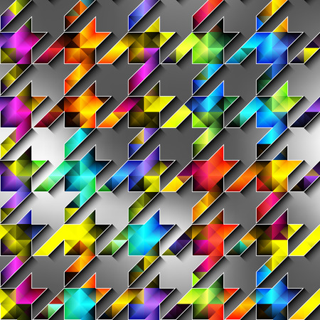 diagonal: Seamless background pattern. Diagonal colorful hounds-tooth pattern.