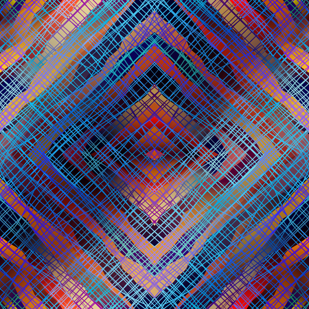 continuity: Seamless background pattern. Diagonal geometric abstract pattern. Illustration