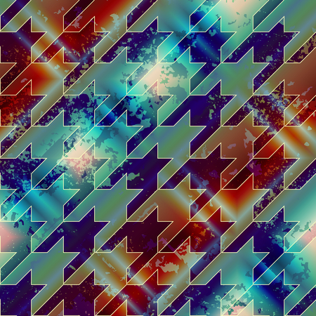 houndstooth: Seamless background pattern. Diagonal grunge hounds-tooth pattern.