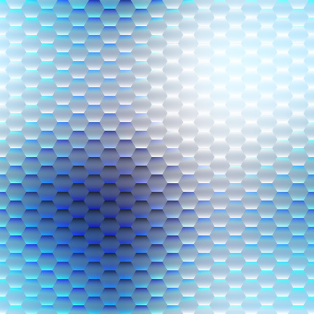 Abstract composition, futuristic technology, blurred seamless cell pattern Illustration