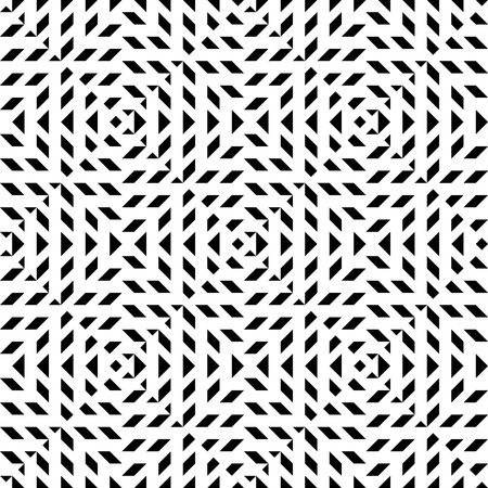 Seamless geometric abstract pattern. Simply balck and white pattern. Illustration