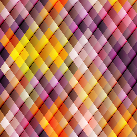 Abstract seamless rhombus pattern in orange and red colors