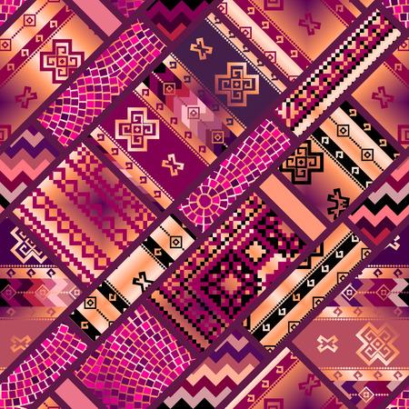 Seamless background pattern. Diagonal geometric ornamental pattern.