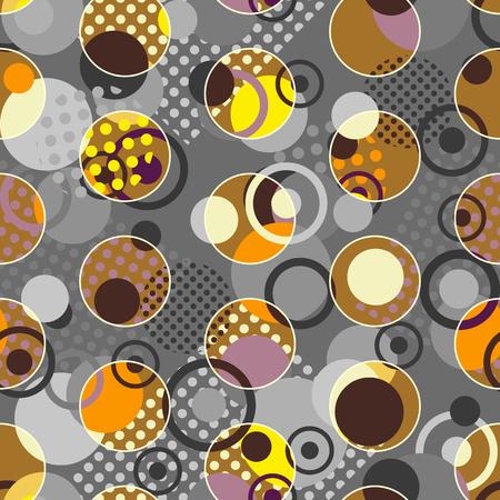 circles pattern: Seamless background pattern. Abstract circles geometric pattern. Illustration