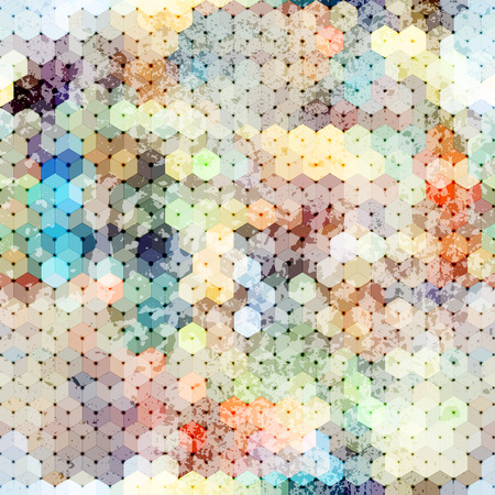 linking: Abstract pattern of cubes. Seamless geometric background