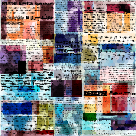unreadable: Seamless background pattern. Imitation of abstract retro newspaper