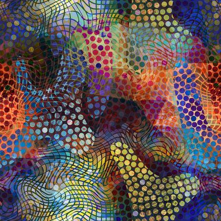continuity: Seamless background pattern. Abstract geometric grunge pattern Illustration