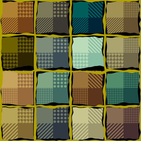 plaid pattern: Seamless background pattern. Abstract brown plaid pattern.