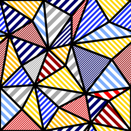 Seamless background pattern. Abstract geometric colorful pattern
