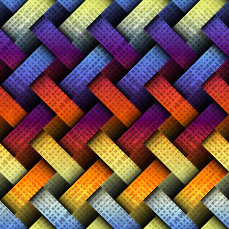 interweaving: Seamless background pattern. Diagonal plaid pattern with a interweaving effect