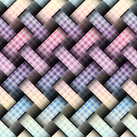 Seamless background pattern. Diagonal plaid pattern with a interweaving effect
