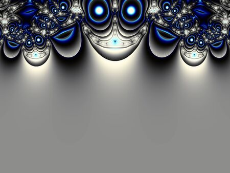 bordered: Fractal artwork for creative design. Abstract bordered background in digital art style Stock Photo
