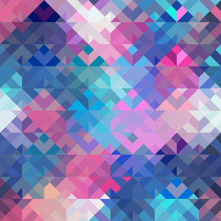 Seamless background pattern. Pink and blue geometric abstract pattern.