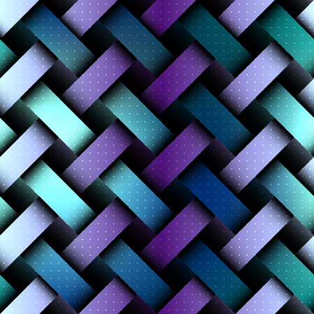 interweaving: Seamless background pattern. Abstract matrix board with a interweaving effect. Illustration