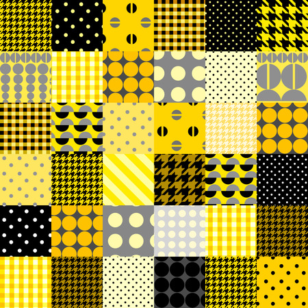 Seamless background pattern. Quilting design pattern in yellow color Illustration