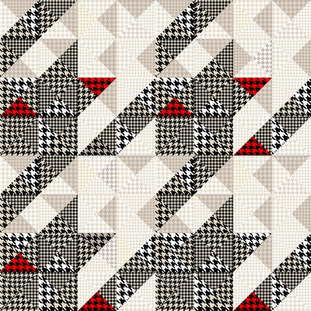 houndstooth: Seamless Hounds-tooth pattern of Hounds-tooth patterns in a patchwork style. Illustration